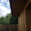 Spots zwart tuinhuis thermowood